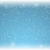 Christmas blue background with falling snowflakes. Vector illustration. Christmas blue background with falling snowflakes. Winter snowfalls. Vector illustration Royalty Free Stock Image