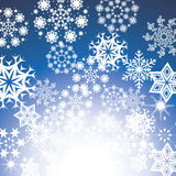 Christmas blue background Royalty Free Stock Photography