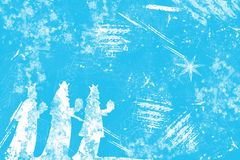 Christmas blue background Royalty Free Stock Images