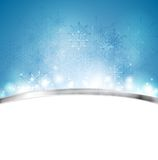 Christmas blue background with metal stripe Royalty Free Stock Photo