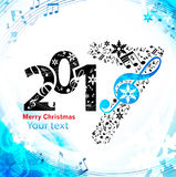 Christmas blue background music Royalty Free Stock Image