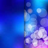 Christmas blue Background. Christmas and New Year holidays blue Background bokeh effect with defocused lights and snowflakes. Vector illustration EPS10 Stock Image
