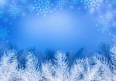 Christmas blue background. Royalty Free Stock Photography