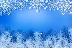 Christmas blue background. Stock Image