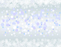 Christmas blue background with snow flakes Stock Image