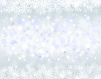 Christmas blue background with snow flakes. Illustration Stock Images