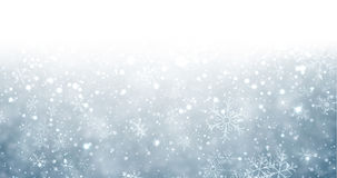Christmas blue background with snow. Winter background with snowflakes and place for text. Christmas blue defocused illustration. Eps10 vector. r Stock Photos