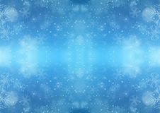 Christmas Blue Background with Snowflake stock photo