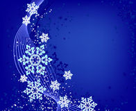 Christmas blue background with snowflakes Royalty Free Stock Image