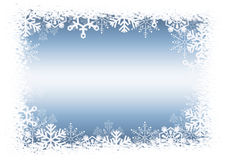 Christmas blue background with snowflakes. Royalty Free Stock Photo