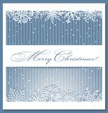 Christmas blue background with snowflakes. Stock Image