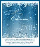Christmas blue background with snowflakes. Stock Images