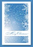 Christmas blue background with snowflakes. Stock Photography