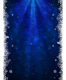 Christmas blue background with snowflakes Royalty Free Stock Images