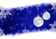 Christmas blue background with snowflakes. Christmas background greeting card with snowflakes Stock Images