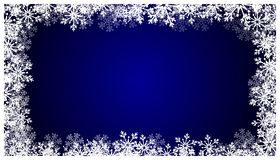 Christmas blue background with snowflakes. Holiday snow pattern. EPS 10. vector illustration