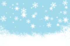 Christmas blue background snowflakes and light Royalty Free Stock Image