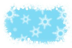 Christmas blue background snowflakes and light Royalty Free Stock Images