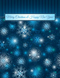 Christmas blue background with snowflakes, vector Royalty Free Stock Photos