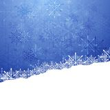 Christmas blue background with snowflakes Stock Image