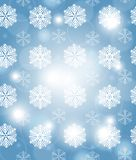 Christmas blue background with snowflakes. Vector illustration Stock Images