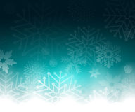 Christmas blue background with snowflakes. Vector illustration Royalty Free Stock Images