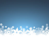 Christmas blue background, with snowflakes. Vector illustration Stock Photography