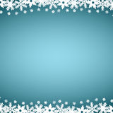Christmas blue background, with snowflakes. Christmas blue background with snowflakes, vector illustration Royalty Free Stock Photos