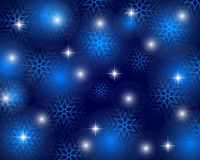 Christmas blue background with snowflakes, vector. Illustration Royalty Free Stock Photo