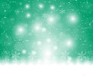 Christmas blue background, with snowflakes vector. Illustration Stock Photography