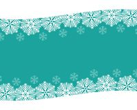 Christmas blue background with snowflakes. White illustration Stock Image