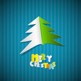 Christmas Blue Background with Tree Royalty Free Stock Images
