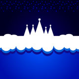 Christmas blue background. Vector illustration Royalty Free Stock Photo