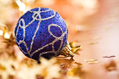 Christmas blue ball Royalty Free Stock Photos