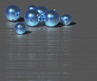 Christmas blue ball royalty free illustration