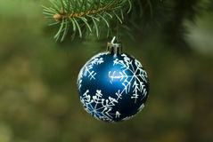 Christmas blue ball royalty free stock images
