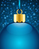 Christmas blue ball Stock Photo