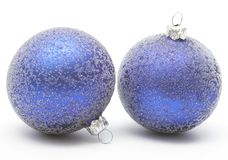 Christmas blue ball Stock Images