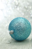 Christmas blue ball Stock Photography