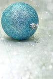 Christmas blue ball Stock Photo