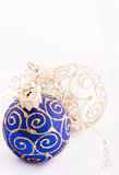 Christmas blue ball Royalty Free Stock Photos