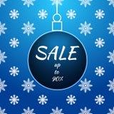 Christmas blue ball sale card  Eps 10 Royalty Free Stock Photography