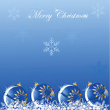 Christmas blue ball shine background Royalty Free Stock Photos
