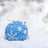 Christmas blue ball Stock Photos