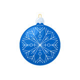 Christmas Blue Ball with Snowflake  Royalty Free Stock Photography
