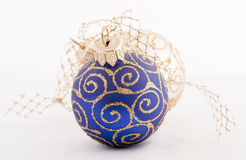 Christmas blue ball Royalty Free Stock Image