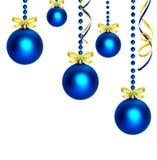 Christmas blue balls Stock Photography