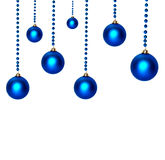 Christmas blue balls Royalty Free Stock Images
