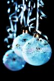 Christmas blue balls Stock Photo