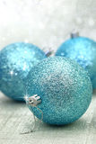 Christmas blue balls Stock Photo
